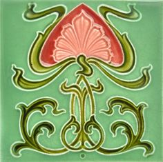 Rhodes Tile Co. c1905 - RS0579 - Art Nouveau Tiles