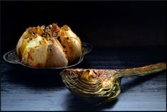 Tequila Lime Roasted Garlic  and Chipotle Roasted Artichokes @Magicalspice
