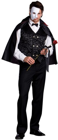 18thcenturyfop antique fashion plate print masquerade costume mysterious phantom adult costume now at teezers costumes love phantom of the opera solutioingenieria Gallery