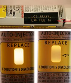 Become familiar with the window on your EpiPen®. A pen that has become ineffective due to time, temperature or sunlight will change color fr...