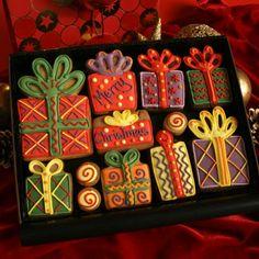Medium Christmas Gifts Cookie Box