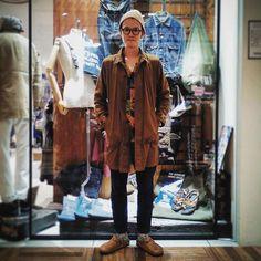 WEBSTA @ stockman_chofu_official - アロハ着納めスタイルToday's style 伊藤cap #highland2000coat #eternalshirt #johnbullpant #johnbullsandal #birkenstock