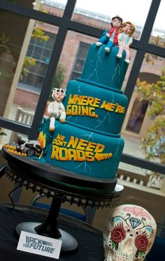 Back to the Future-Themed Cake