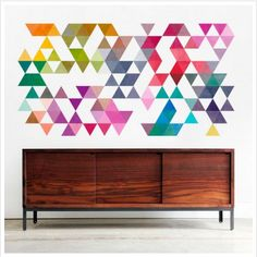 With no borders or background colors, this wall decal looks like it's painted right on the wall.