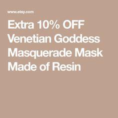 Extra 10% OFF Venetian Goddess Masquerade Mask Made of Resin