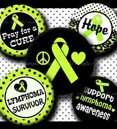 INSTANT DOWNLOAD Lime Green Lymphoma Awareness Ribbon (327) 4x6 Bottle Cap Images Digital Collage  for bottlecaps hair bows bottlecap images