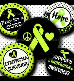 INSTANT DOWNLOAD Lime Green Lymphoma Awareness Ribbon (327) 4x6 Bottle Cap Images Digital Collage  for bottlecaps hair bows bottlecap images
