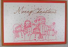 Kerstkaart getekend met sketch pennen via mijn silhouette cameo.