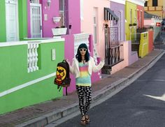 La Carmina and her travel team took a tour of Cape Town, South Africa! Enjoy her photos of a Malay cooking school, Bo Kaap rainbow houses, waterfront ferris wheel, Robben Island (Nelson Mandela's prison) and more, at http://www.lacarmina.com/blog/2014/09/cape-town-tour-bo-kaap-table-mountain/  rainbow houses bo-kaap, malay district