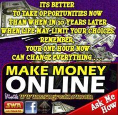 Be part of us, earning money online #money #moneyonline #earnmoneyonline https://www.facebook.com/pages/SWA/904877856199707?ref=tn_tnmn