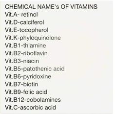 Helpful to know: Chemical title's of various Nutritional vitamins… – free medical books Medical Facts, Medical Information, Nursing School Notes, Nursing Schools, Medical School, Pharmacology Nursing, Medical Anatomy, School Study Tips, Medical Terminology