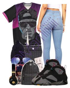 """Vacation to Bermuda"" by trill-forlife ❤ liked on Polyvore featuring MCM, Ray-Ban and BP."