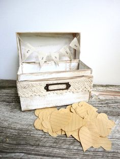 Rustic Wedding Card Box with Hearts - Custom Colors  Perfect for vintage weddings, outdoor weddings, and rustic weddings
