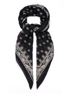 Paisley-print cashmere and silk-blend scarf by Saint Laurent   Shop now at #MATCHESFASHION.COM