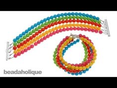 http://www.beadaholique.com/yt - In this video, learn how to make a multi strand bracelet with Czech glass party beads and beading wire.    Designer: Megan Milliken    Party Bead Multi Strand Bracelet  Project B1092  http://www.beadaholique.com/t-ba-project-B1092.aspx?utm_source=YouTube_medium=social-media_campaign=default    You can find the su...
