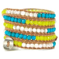 Neon yellow wrap bracelet ($41) ❤ liked on Polyvore featuring jewelry, bracelets, neon yellow jewelry, wrap bracelet, leather wrap bracelet, leather jewelry and leather bangles