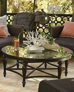 The Berkeley Coffee Table's round shape fits in perfectly with your seating arrangements.