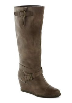Goal-oriented Gal Boot in Grey, #ModCloth