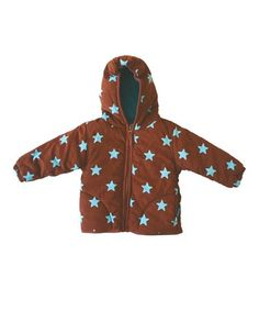 Take a look at this Brown Starry Jacket - Infant, Toddler & Kids  by Toby Tiger on #zulily today!