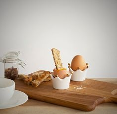Henry the Egg Cup set of two by hellodesignk on Etsy