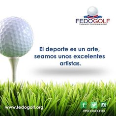 Seamos  unos  Artistas  del  deporte.  #fedogolfRd #golf #instagolf #swing #grass #green #field #putter #hoyo #RD #DominicanRepublic #sport #deporte #Backspin #bola ##fairway #draw #driver #finish #victory #win #hard #fight