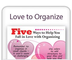 How to Love Organizing
