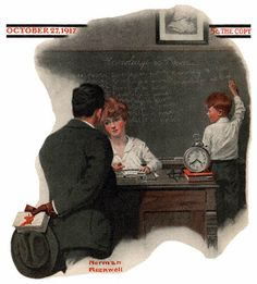 Google Image Result for http://www.best-norman-rockwell-art.com/images/1917-10-27-Saturday-Evening-Post-Norman-Rockwell-cover-Knowledge-Is-Power-no-logo-400.jpg