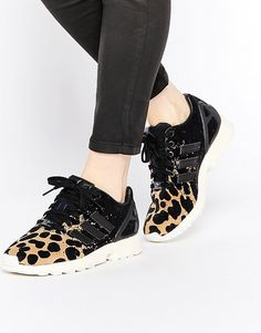 Pin for Later: 24 Cool Pairs of Trainers That Wont Make You Compromise Comfort For Style adidas ZX Flux Ombre Animal Print Trainers adidas ZX Flux Ombre Animal Print Trainers (£75)