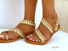 Bridal sandals White Beach Wedding Sandals LETO