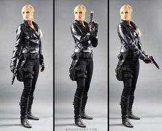 Kayla Gun Pose Reference STOCK IV by PhelanDavion on DeviantArt