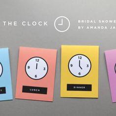 Around The Clock Bridal Shower Invitations {Free Printables}