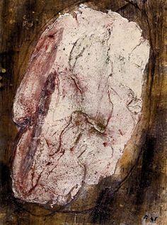 jean fautrier | Jean Fautrier « Otage n°3″, 1945. Huile sur papier marouflé sur ...  Fautrier: la série des Otages