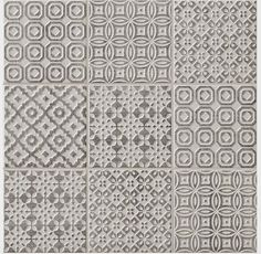 Batik Patchwork Grey tile - Topps Tiles per loveliest tiles I have bought, look fab with cream kitchen! Tiles, Patchwork Tiles, Bathroom Floor Tiles, Kitchen Wall Tiles, Topps Tiles, Kitchen Splashback, Trendy Kitchen Tile, Bathroom Flooring, Fireplace Tile