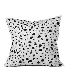 Miss Monroes Dalmatian Throw Pillow