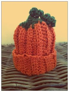 Pumpkin Hat by TheLovelyyarns on Etsy, $10.00