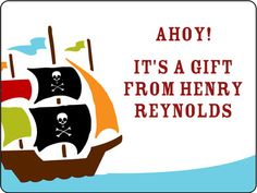 Ahoy Mateys Gift Stickers