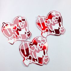 Die Cut  3 Sweetheart Tags by DistinctClippings on Etsy, $6.85