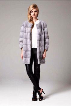 Lilly E Violetta Sapphire Mink Fur Coat