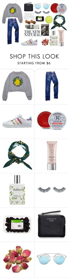 """it's enough to be young and in love"" by cute-as-a-button24 ❤ liked on Polyvore featuring John Galliano, adidas Originals, Rosebud Perfume Co., Hermès, Urban Decay, philosophy, Napoleon Perdis, Acne Studios and Christian Dior"