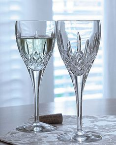 my favorite crystal stemware. i use it every time i have a glass of wine (which is often!) - makes it special.