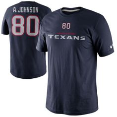 Nike Andre Johnson Houston Texans Player Name And Number T-Shirt - Navy Blue 15bf8f63a