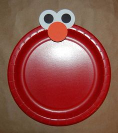 Elmo plates - super easy to make u0026 adorable ; & Elmo Birthday Party Ideas for the Budget Conscious Parent ...