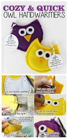 20 Most adorable DIY OWL projects to try - CraftionaryYou can find Owl crafts and more on our Most adorable DIY OWL projects to try - Craftionary Hand Sewing Projects, Sewing Crafts, Fabric Crafts, Owl Patterns, Sewing Patterns, Sewing Stitches, Sewing Ideas, Owl Home Decor, Owl Crafts
