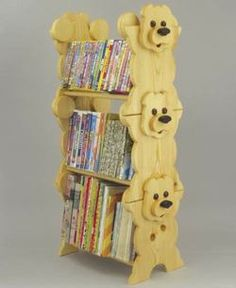 19-W3303+-+Book+Stack+Rack+Woodworking+Plan.