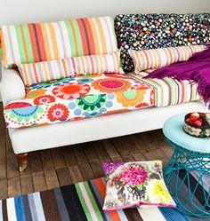 Sofa colourful make-over