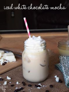 Iced white chocolate mocha - Starbucks copycat! Save your $$$ and make this version instead! #starbucks #copycat #coffee