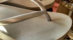 interior - Old Navy silver gray flip flops
