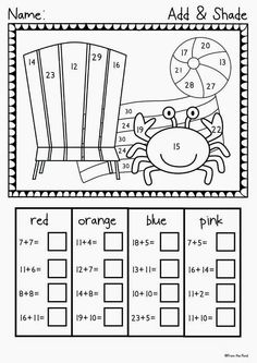 1 million+ Stunning Free Images to Use Anywhere Summer Worksheets, First Grade Math Worksheets, 1st Grade Math, Preschool Worksheets, Spelling Activities, Kindergarten Activities, Learning Activities, Homeschool Math, Math For Kids