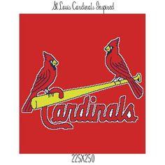 Cardinals crochet graph blanket | Craftsy