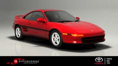 Launched in 1989, the second-generation of Toyota's popular mid-engine, real-wheel-drive two-seater immediately drew styling comparisons with the Ferrari 348. While it didn't pack the power of its thoroughbred rival, it was certainly fun to drive and adequately fulfilled the Japanese marque's goal of producing a small, lightweight, economical, and above all, affordable sports car. To get behind the wheel of Toyota's affordable exotic, download the MR2 Turbo on Simraceway today.